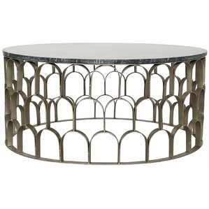 Mina Stone/Metal Coffee Table by Noir