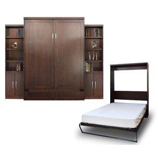 Quinn Queen Murphy Bed with 2 Door Bookcase by Brayden Studio