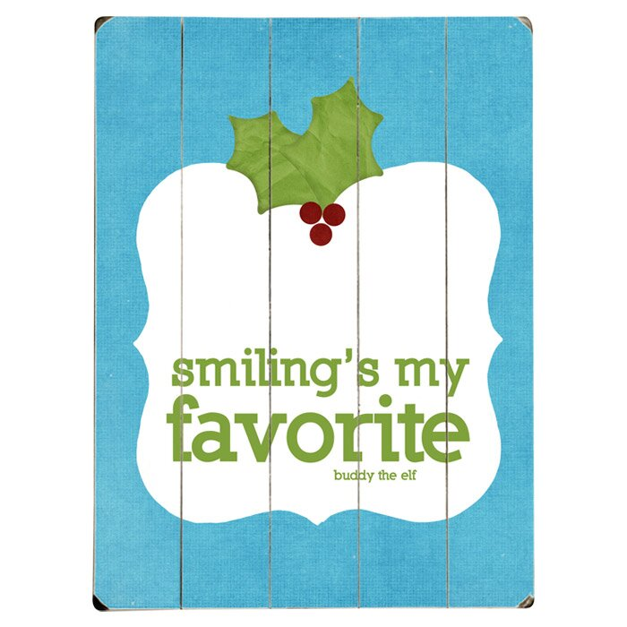 Artehouse Llc Smiling S My Favorite Graphic Art Print Multi Piece Image On Wood Wayfair