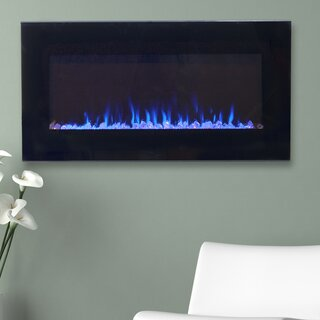 Aida Wall Mounted Electric Fireplace by Wade Logan SKU:CC762674 Purchase
