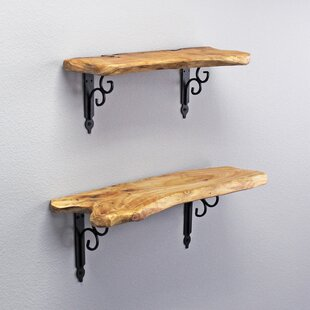 Reinke Cedar Wood 2 Piece Wall Shelf Set