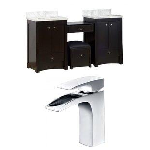 Elite 70 inch  Double Bathroom Vanity Set