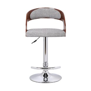 Kris Adjustable Height Swivel Bar Stool Orren Ellis