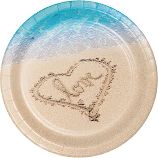 Beach Love Banquet Paper Dinner Plate (Set of 24)