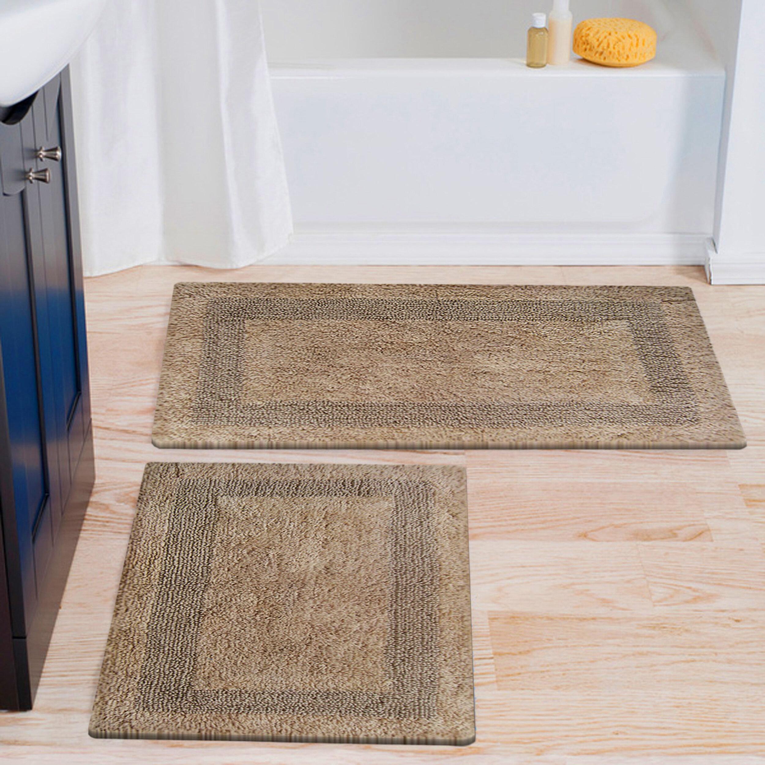 Latitude Run Eriksay Rectangle 100 Cotton Reversible 2 Piece Bath Rug Set Reviews Wayfair