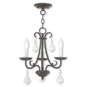 Devan 3-Light Semi Flush Mount