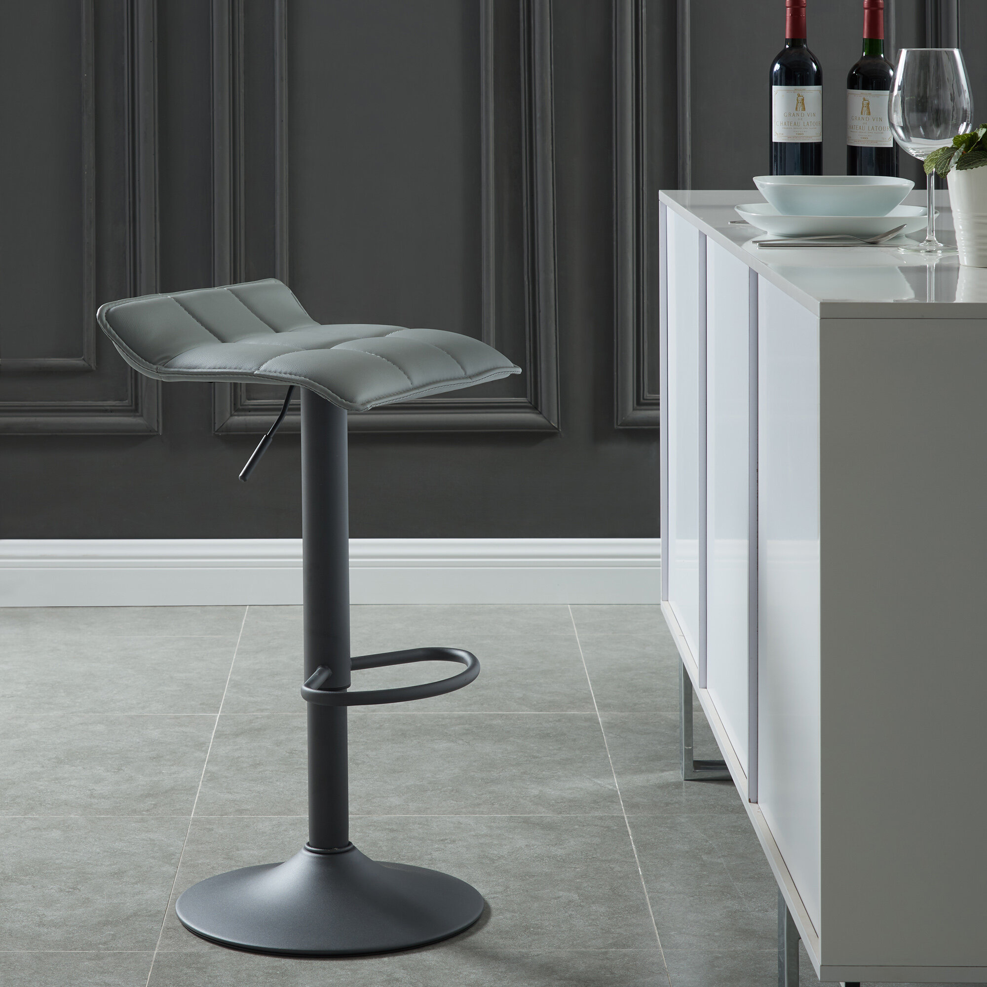 Fantastic Arjun Adjustable Height Swivel Bar Stool Caraccident5 Cool Chair Designs And Ideas Caraccident5Info