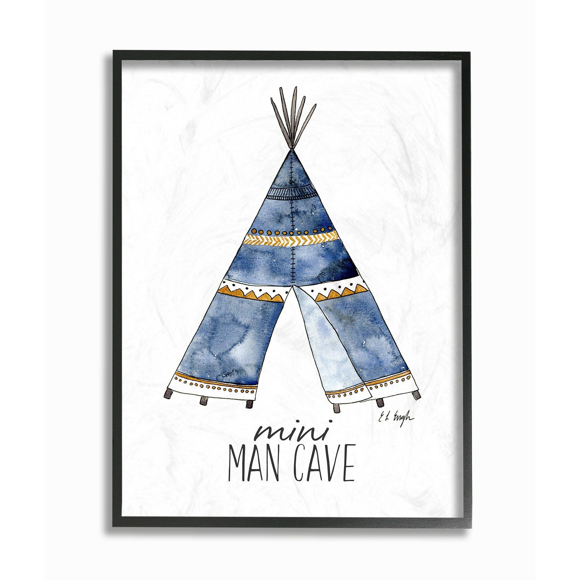 Harriet Bee Ceres Mini Man Cave Tent Framed Art Wayfair