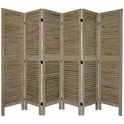 Jeanpierre Room Divider Color: Burnt Gray, Number of Panels: 6 by August Grove