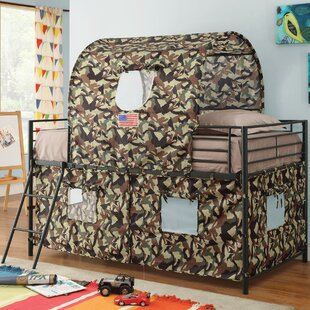 Kali Camouflage Tent Twin Loft Bed by Zoomie Kids