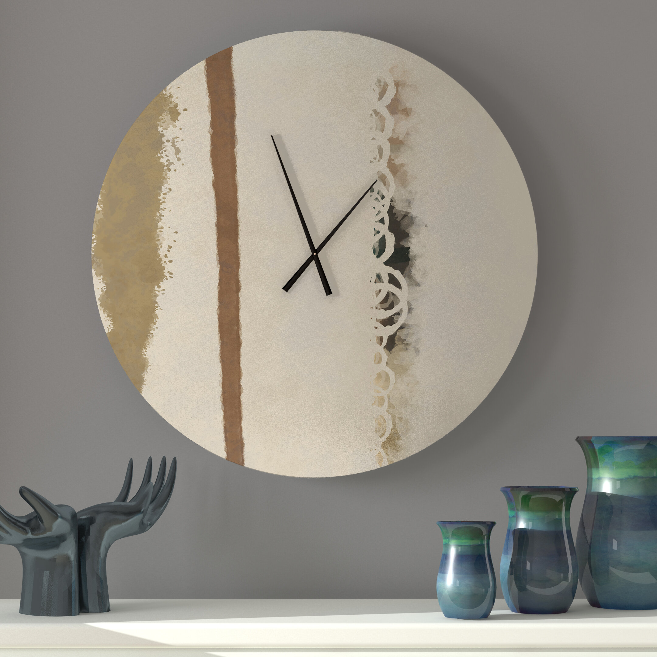 Latitude Run Debonair Unspoiled Abstract Metal Wall Clock Wayfair