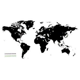 World map decal wayfair world map wall decal gumiabroncs Choice Image
