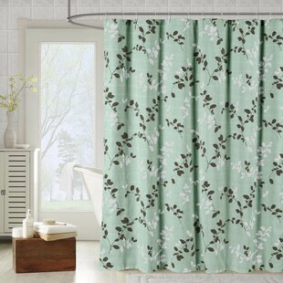 Meridian Printed Cotton Blend Single Shower Curtain by Bath Studio Cool