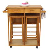 Segalerva Kitchen Cart by Rosecliff Heights