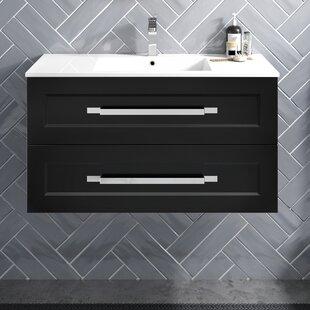 Riga 36 WallMounted Single Bathroom Vanity Set