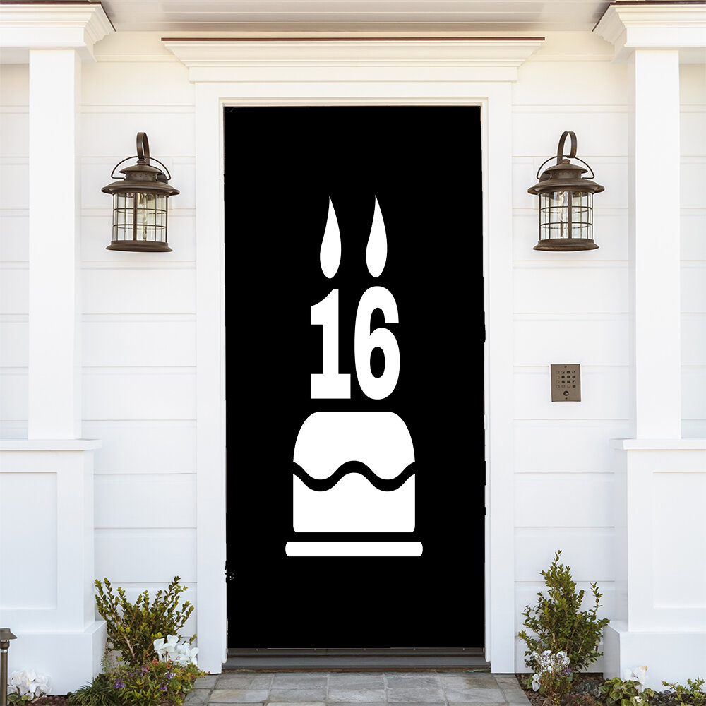The Holiday Aisle Sweet 16 Door Mural Wayfair