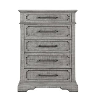 Dayanara Spacious Wooden 5 Drawer Chest by Ophelia & Co.
