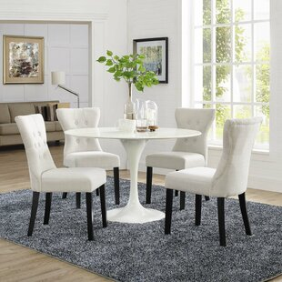 Brightling Upholstered Dining Chair Set of 4 by House of Hampton