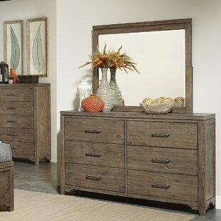 Saucedo 6 Drawer Double Dresser with Mirror