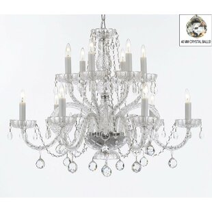 Compare Atchley 12-Light White Candle Style Chandelier By Astoria Grand