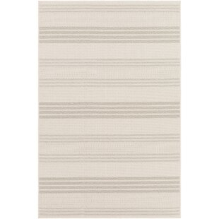 Midwest Striped Ivory/White Area Rug By Charlton Home
