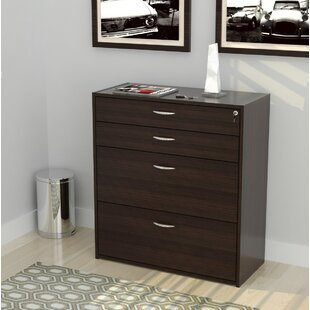 Kiril Engineered Wood 4-Drawer Vertical Filing Cabinet