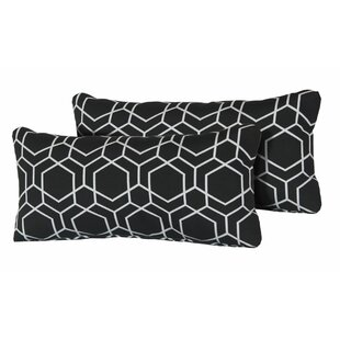 Averill Hexagon Rectangle Outdoor Lumbar Pillow (Set of 2)