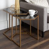Becky 2 Piece Hexagon Nesting Tables by Ivy Bronx