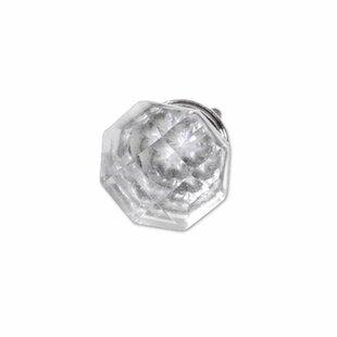 Glass Diamond Octagon Set of 4 Cabinet Pulls (Set of 4)