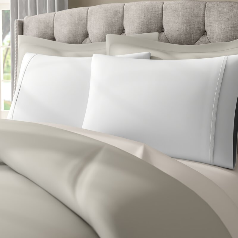The Twillery Co. Enrico Cotton 1000 Thread Count Solid Pillowcase