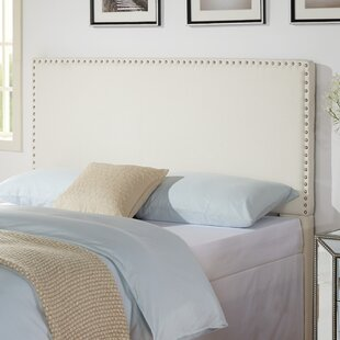 white bedding and wayfair mirrored side tall bedroom tufted table custom headboard silver with transitional lamps furniture