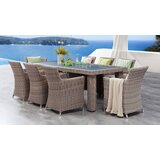 Searle 9 Piece Dining Set with Cushions