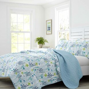 Seaweed Fish Cotton Reversible Quilt Set by Laura Ashley Home