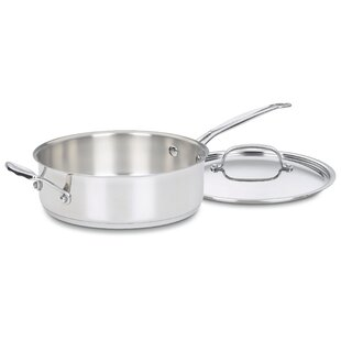 Chef's Classic Stainless Steel 5.5 Qt. Saute Pan with Lid