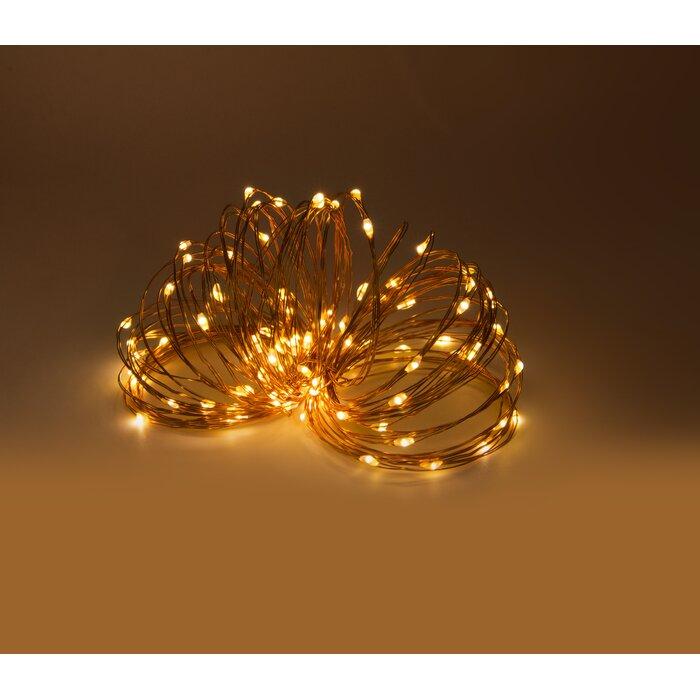 Solar Led Outdor Copper 75 Ft 200 Light Novelty String Light