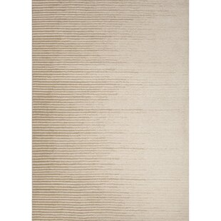 Online Reviews Brittanie Wool Hand Tufted Ivory/White Area Rug By Williston Forge