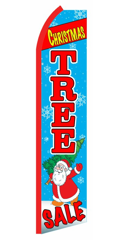 Neoplex Christmas Tree Sale With Santa Polyester 138 X 30 In Feather Banner Wayfair