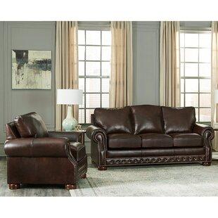 2 Piece Leather Sofa Set | Wayfair