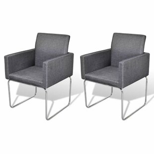 Silas Upholstered Dining Chair (Set of 2) Wrought Studio
