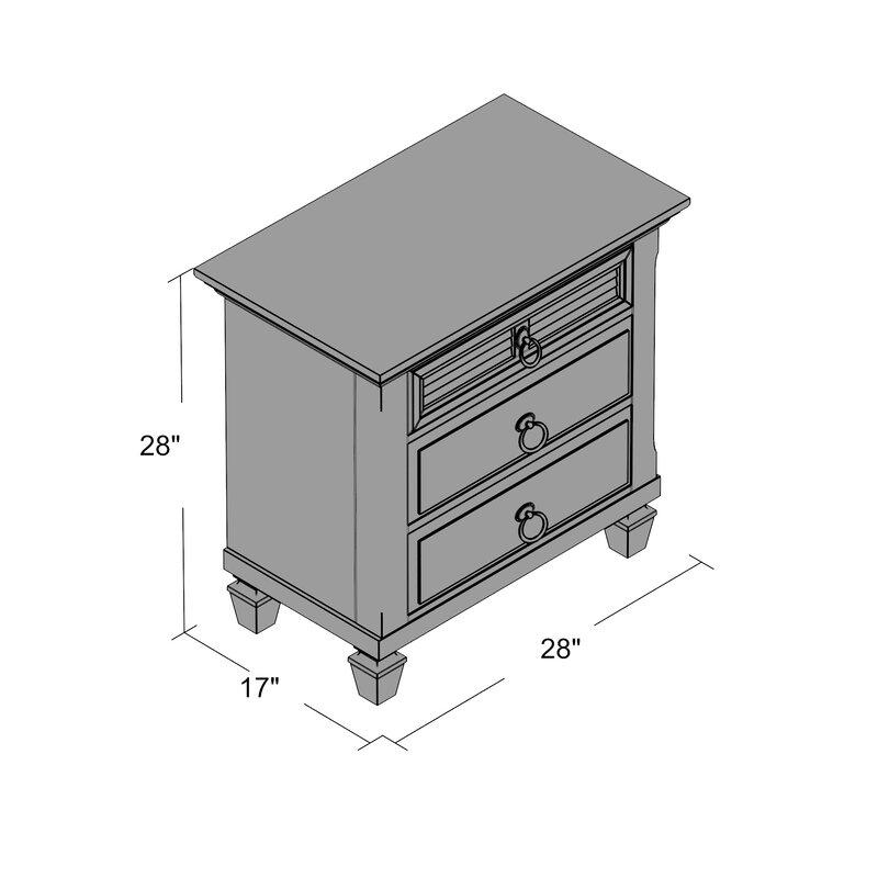 Table de chevet 3 tiroirs Centreville