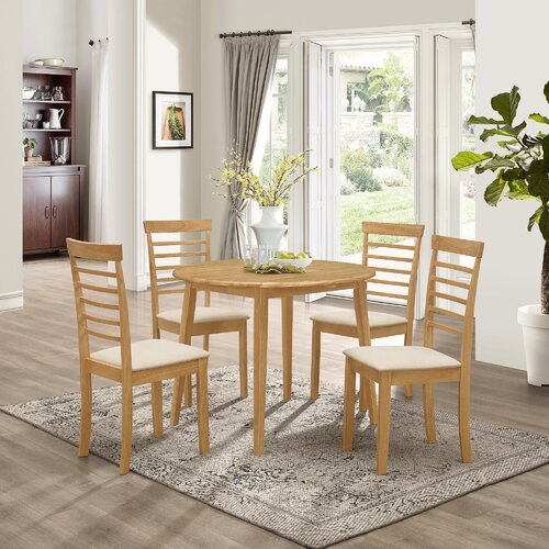 Mcneill Extendable Dining Set with 4 Chairs Brambly Cottage
