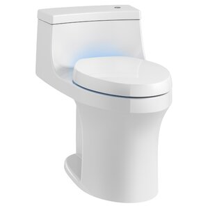 san souci touchless with purefresh comfort height 1piece compact elongated 128 gpf toilet with