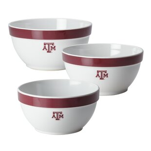 Texas A&M 3 Piece Melamine Mixing Bowl Set by CollegeKitchenCollection