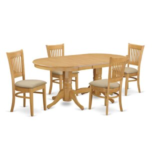 Rockdale 5 Piece Solid Wood Dining Set