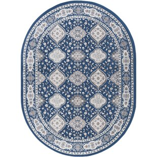 Dolphus Oriental Scatter Navy Area Rug byDarby Home Co