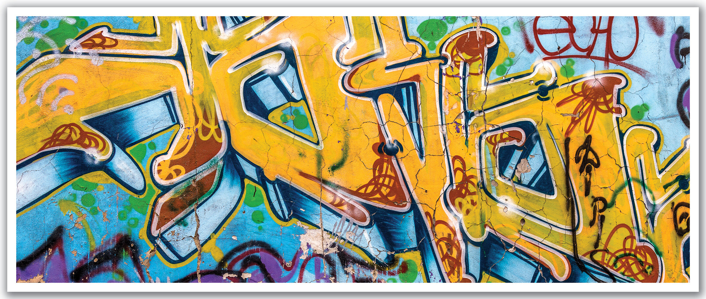 Delighted Personalised Graffiti Wall Art Contemporary - The Wall ...