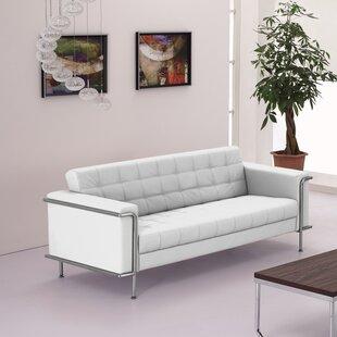 Off White Leather Sofa   Wayfair