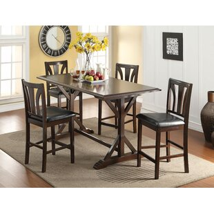 Goudy 5 Piece Solid Wood Dining Set