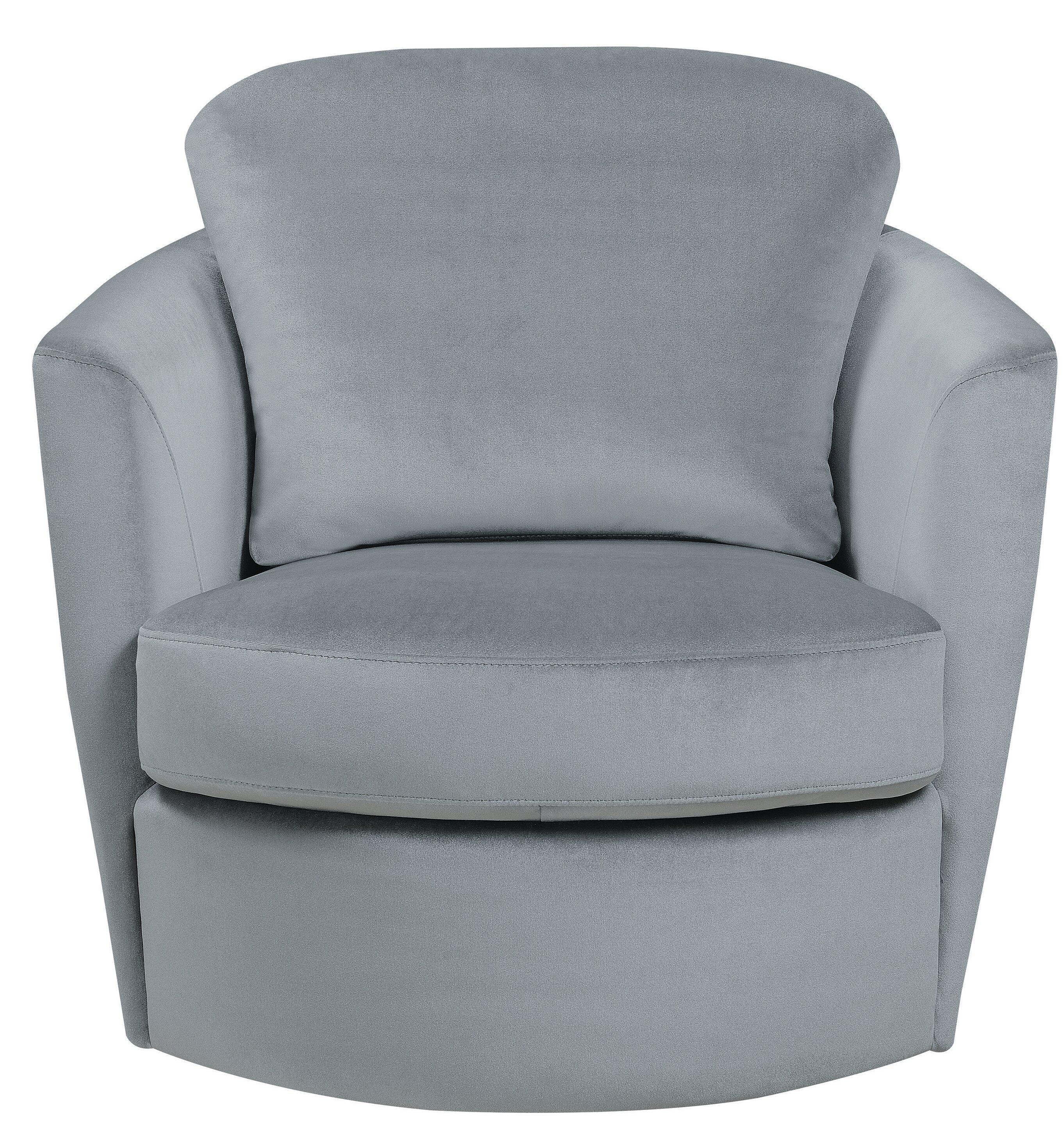 Rosdorf Park Leland Swivel Barrel Chair Wayfair