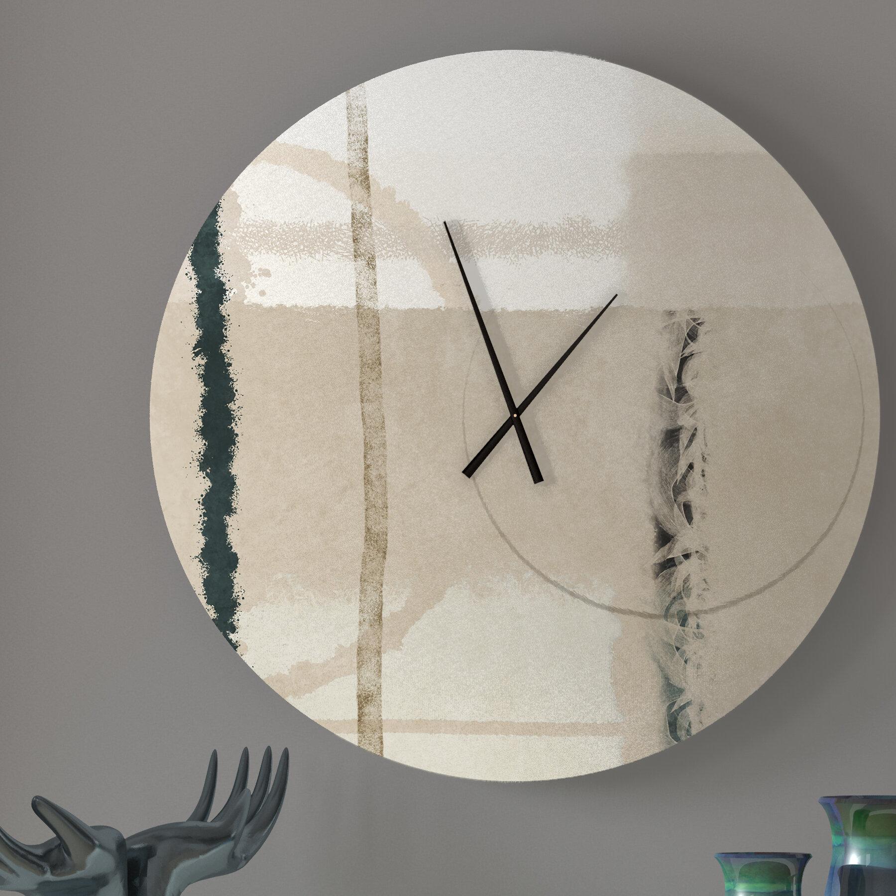 Latitude Run Flash Gutsy Abstract Metal Wall Clock Wayfair